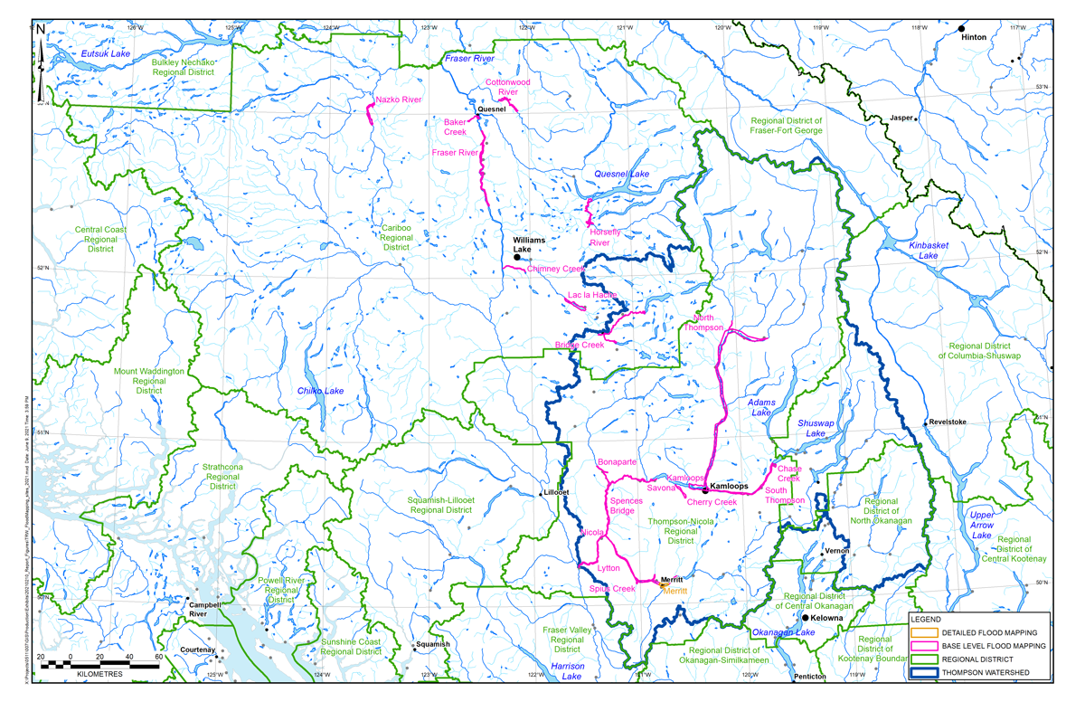 Watersheds flood mapping sites 2021