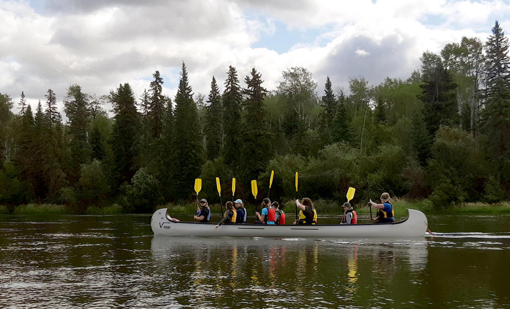 NWR youth canoe trip in August 2021